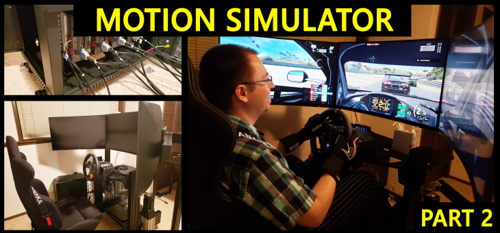 DIY Motion Simulator – Part 2 – Electronics, motors, wiring and testing